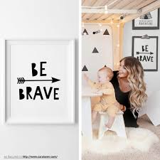 quote kids typography print be brave poster printable quote nursery