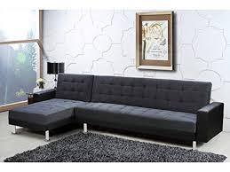 canap d angle confortable deco confort canapé d angle convertible theo noir et gris 5 places