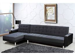 canap d angle convertible confortable deco confort canapé d angle convertible theo noir et gris 5 places