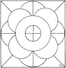 circles coloring free printable coloring pages