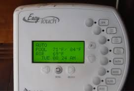 easytouch pool and spa control programming schedule cleaner