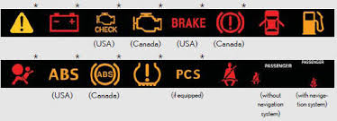 lexus dash lights indicators and warning lights instrument cluster when driving