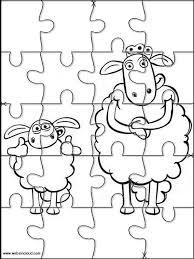 shaun sheep printable jigsaw puzzles cut kids 9