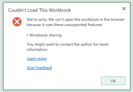 excel 2016 shared workbook question