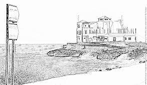 coloriage bord de mer maison 2 à imprimer pour les enfants