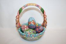 jim shore easter baskets jim shore eggs finding easter basket 5 eggs set enesco