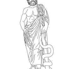 asclepius the greek god of medecine coloring pages hellokids com