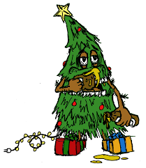 drunk christmas tree color drew weibel