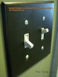 oil rubbed bronze light switch the simplest of spray projects outlet covers in metallic oil