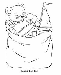 santa bag coloring coloring