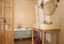 classic bathroom design in traditional rustic house design in