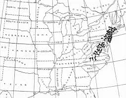 Louisiana Tech Map by Periodical Cicadas 13 And 17 Year Cycles