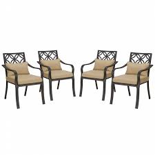 Jaclyn Smith Patio Cushions by Jaclyn Smith Marion 4 Cushion Dining Chairs Neutral Limited