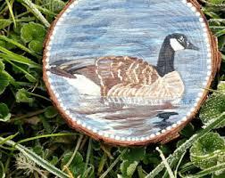 goose ornament etsy