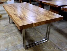 Dining Tables  Industrial Dining Table Reclaimed Wood And Metal - Metal dining room tables