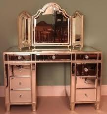 Vanity Tables Amazing Retro Vintage Corner Mirrored Dressing Table 1960s