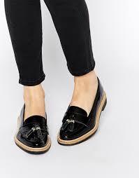 ugg boots sale kurt geiger image 1 of kg by kurt geiger lucien black tassel loafer flat shoes