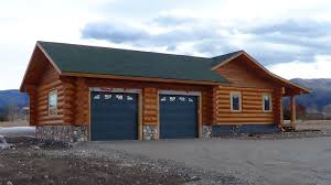 cabin garage plans lone mountain plan 1 616 sq ft cowboy log homes