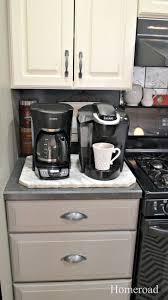 homeroad kitchen coffee station organization