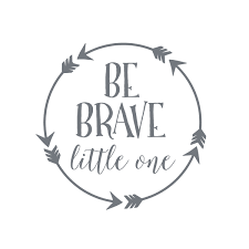 be brave little one wall decal baby boy nursery wall decal arrow
