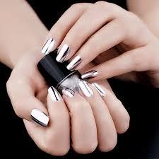 buy silver mirror effect nail set chrome nail polish by