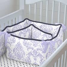 Lilac Damask Crib Bedding Lilac And Navy Damask Crib Bedding Carousel Designs