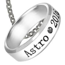 metal ring necklace images Astro kpop titanium steel birthday ring necklace with chain jpg