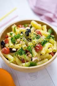 cold pasta dish cold pasta salad with salmon recipe