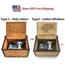 Engraved Music Box Wooden Music Box Ebay