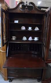1940s Desk Tall Walnut Secretary Desk With Secret Compartments 1940s Ibon