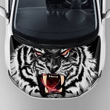 Car Decoration Accessories Tiger Head Graphics Racing Vehicle Adhesive Decal Car Decoration