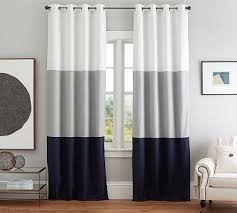 108 Length Drapes Color Block Drape With Polished Nickel Grommet Set Of 2 108