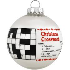 crossword puzzle glass ornament hobbies