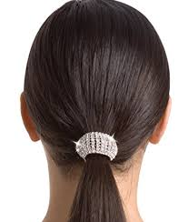 ponytail holder rhinestone ponytail holder clear 1siz