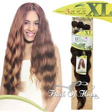 synthetic hair extensions noble classic manaus 3pcs xl heat resistant synthetic