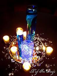 10 best blue bottle table decs images on pinterest centrepieces