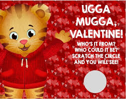 s day cards for classmates personalized kid s daniel tiger valentines day cards scratch