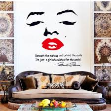 Wall Home Decor Marilyn Quote Vinyl Wall Stickers Mural Home
