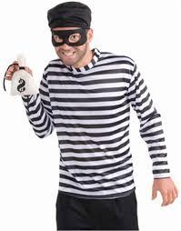 T Shirt Halloween Costume by Burglar Halloween Costume One Size Walmart Com