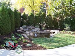 backyard pond ideas with waterfall backyard pond pictures