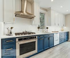 images of blue and white kitchen cabinets casual blue and white painted maple kitchen cabinets omega