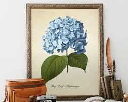 Hydrangea Bathroom Accessories by Hydrangea Print Etsy
