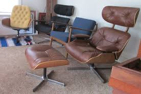 Computer Lounge Chair Remnant Reupholstered Eames Style Lounge Chair U0026 Ottoman