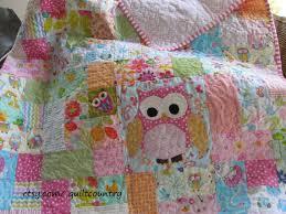 Nursery Bedding For Girls Modern by Baby Owl Quilt Owl Nursery Decor Girls Crib Bedding Modern