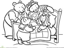 Are Bears Color Blind Color Goldilocks And The Three Bears Worksheets Coloring