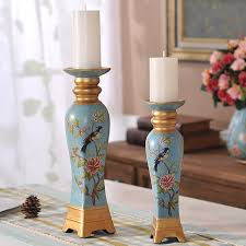 retro candlestick ornaments candlelight dinner table