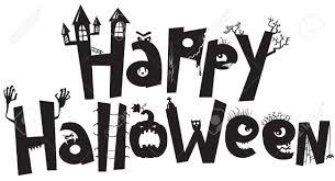 halloween logo png halloween negro silueta letras ilustraciones vectoriales clip art