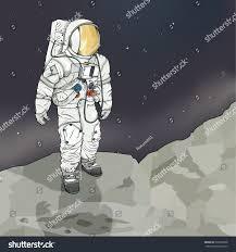 vector drawing astronaut easy edit groups stock vector 238100638