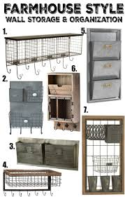 farmhouse style wall storage u0026 organization little vintage nest
