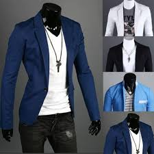 charm men u0027s casual slim fit one button suit blazer coat jacket